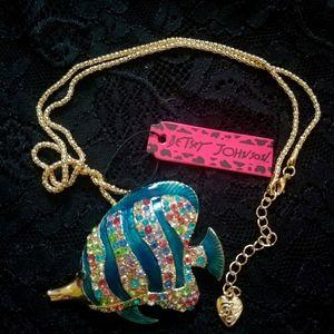Betsey Johnson Fish Necklace
